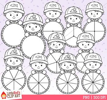 Summer Cap Kid Spinners Clip Art