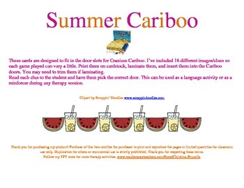 Summer Cariboo Clues