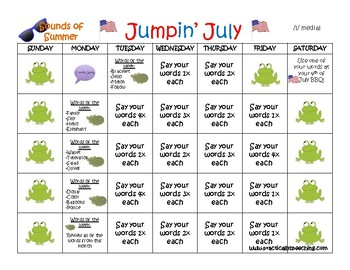 Summer Carryover Calendar BUNDLE for Language and Articulation