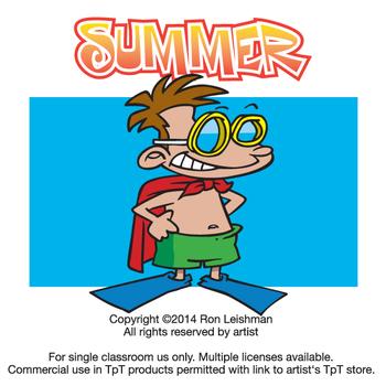 Summer Cartoon Clipart Vol. 1