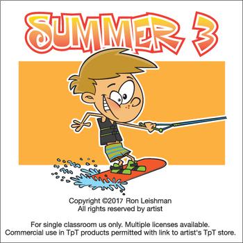 Summer Cartoon Clipart Vol. 3