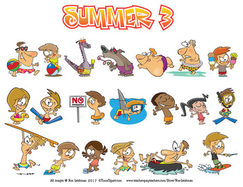 Summer Cartoon Clipart Vol. 3