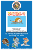 Summer Cartoon Clipart Vol. 4 for all grades