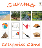 Summer Categories Game with Real Pictures for Early Childhood