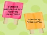 Summer Center Activities for Kindergarten