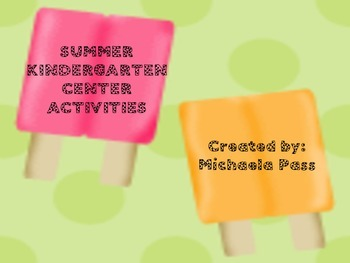 Summer Center Activities for Kindergarten