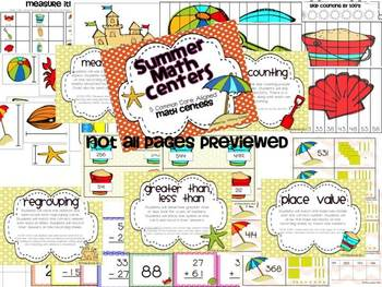 Summer Centers: Math and Literacy BUNDLE PACK