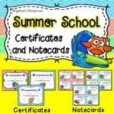 Summer School Certificates: End of the Year Awards - Owl Theme