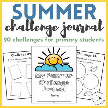 Summer Challenge Journal- Activities to Keep Children Thin