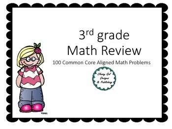 100 Common Core Aligned Math Problems for 3rd Grade