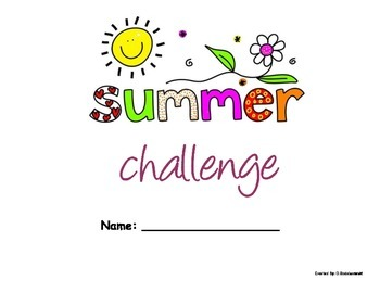 """Summer Challenge"" Packet for Primary and Elementary Grades"