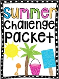 Summer Challenge Packet (for multiplication facts and reading)