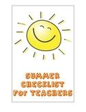 Summer Checklist for Teachers