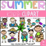 Summer: Children Clip Art Set {2}