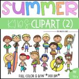 Summer: Children Clipart Set