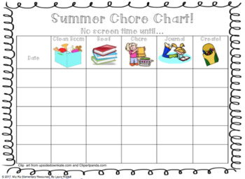 photo about Summer Chore Chart Printable titled Summer season Chore Chart! No display season until finally