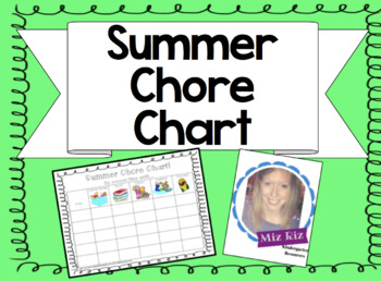 Summer Chore Chart!  No screen time until…  :)