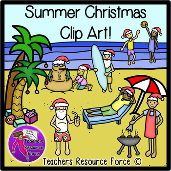 Summer Christmas clip art
