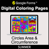 Summer: Circles Area & Circumference - Google Forms   Digi