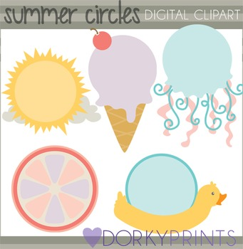 Summer Circles Clip Art