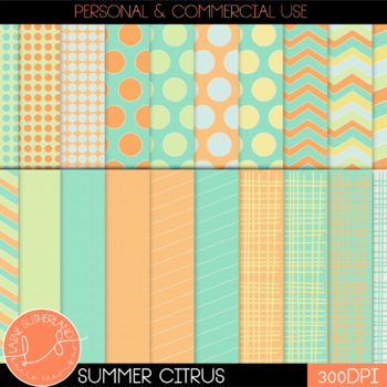 Summer Citrus Digital Paper