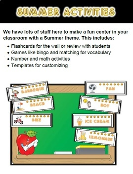 Summer Classroom Center Bundle