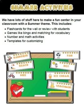 Summer Classroom Center Bundle