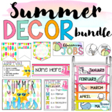 Summer Classroom Decor BUNDLE   Summer School   Beach Goog