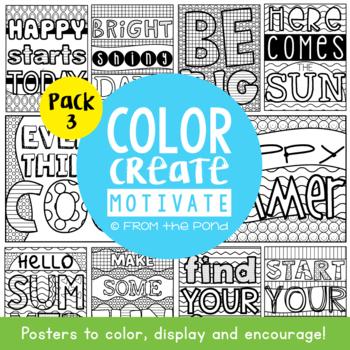 Summer Classroom Motivational Posters
