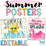 Summer Classroom Posters   Growth Mindset Posters   Summer