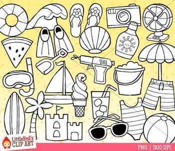 Summer Symbols Clip Art