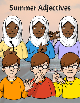 Summer Clip Art - American Sign Language ASL Set (COMMERCIAL LICENSE)