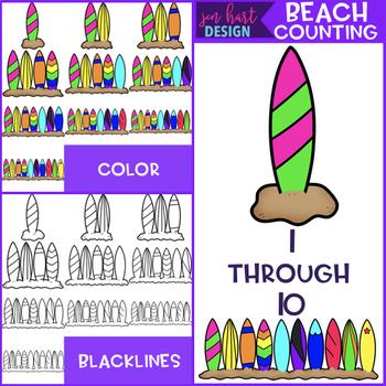 Summer Clip Art - Beach Counting {jen hart Clip Art}