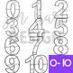 Summer Clip Art -Beach Numbers {jen hart Clip Art}