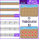 Summer Clip Art - Beach Ten Frames {jen hart Clip Art}