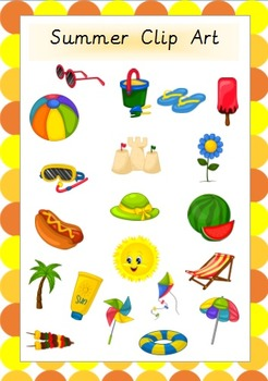 Summer Clip Art- Beautiful and High Quality!