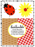 Summer Clip Art Free Pack PNG JPG Commercial Personal Flower Ladybug