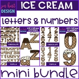 Summer Clip Art - Ice Cream Letters and Numbers Mini BUNDLE {jen hart Clip Art}