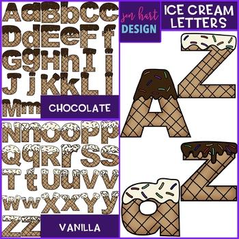 Summer Clip Art - Ice Cream Letters {jen hart Clip Art)
