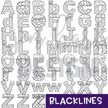 Alphabet Letters Clip Art - Ice Cream Letters {jen hart Clip Art)
