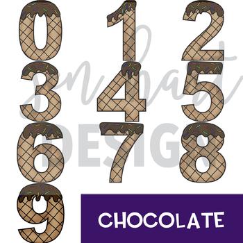 Summer Clip Art -Ice Cream Numbers {jen hart Clip Art}