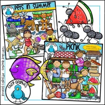 Summer Clip Art Mega-Bundle - Chirp Graphics