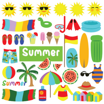 Summer Clip Art for TPT Resources