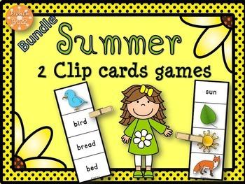 Summer - Clip Cards - Bundle