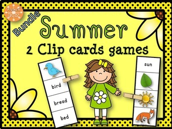Summer - Clip Cards - Bundle