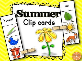 Summer - Clip Cards - Images