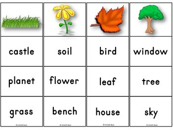 Summer - Clip Cards - Vocabulary
