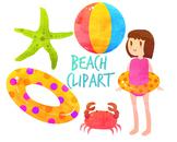 Summer Clip art, Beach Clip art, Beach Clip Art, for perso