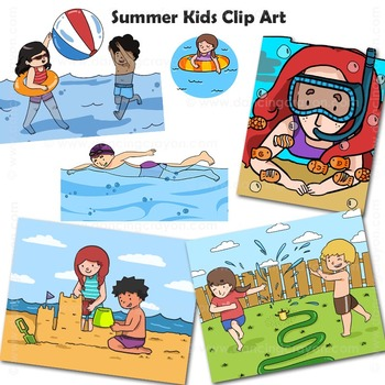 Summer | Beach Clip Art Kids