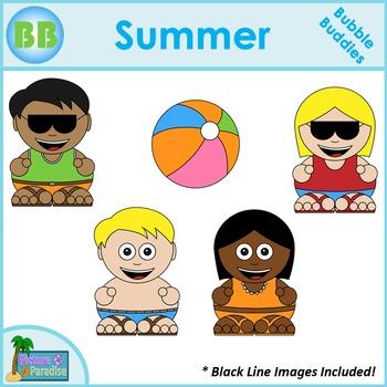 Summer Clipart: Bubble Buddies